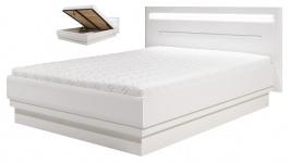 Moderná posteľ Irma 140x200cm s úložným priestorom - biela