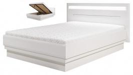 Manželská posteľ Irma 160x200cm s úložným priestorom - biela