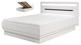 Manželská posteľ Irma 180x200cm s úložným priestorom - biela / wenge