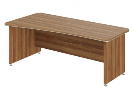 Písací stôl Lorenc 200x100cm ľavý - orech