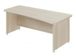 Písací stôl Lorenc 200x100cm pravý - agát svetlý