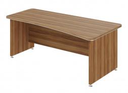 Písací stôl Lorenc 200x100cm pravý - orech