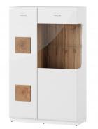 Vitrína 2-dverová nízka WOOD 15