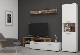 Obývacia stena JUING biela/dub lancelot