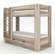 Detská poschodová posteľ REA Pikachu ľavá - dub canyon