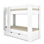 Detská poschodová posteľ REA Pikachu ľavá - biela