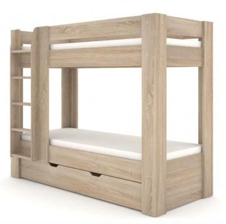 Detská poschodová posteľ REA Pikachu ľavá - dub bardolino