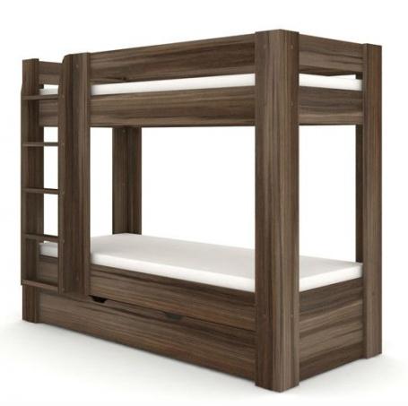Detská poschodová posteľ REA Pikachu ľavá - orech rockpile