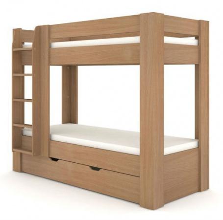 Detská poschodová posteľ REA Pikachu ľavá - buk