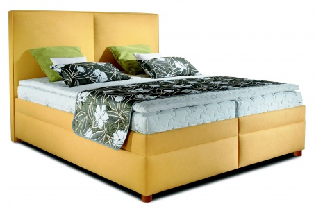 Čalúnená manželská posteľ BOX SPRING Polo 160/180x200cm - výber poťahu