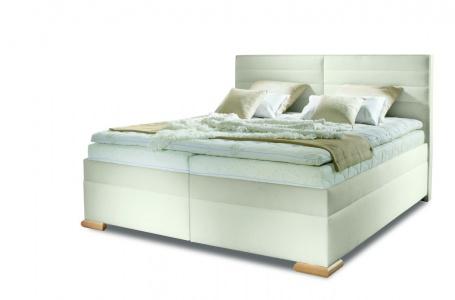 Čalúnená manželská posteľ BOX SPRING Katie 160/180x200cm - výber poťahu