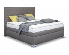 Čalúnená manželská posteľ BOX SPRING Cross 160/180x200cm - výber poťahu