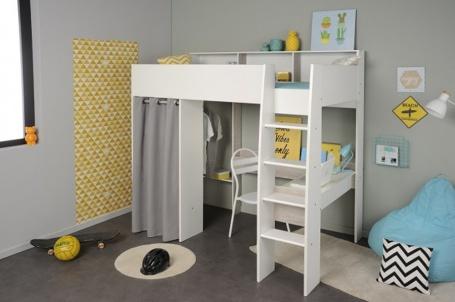 Vyvýšená posteľ Octavia so skriňou a písacím stolom