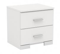 Nočný stolík Space so 2 zásuvkami-biela