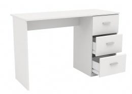 Písací stôl s šuplíky Space-biela