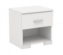 Nočný stolík Space so zásuvkou-biela