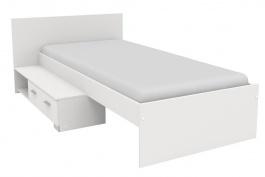 Posteľ so zásuvkou Space 90x200 cm-bílá