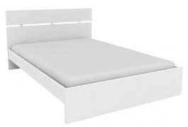 Lacná posteľ Space 140x200 cm-biela