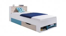 Študentská/detská posteľ Saturn biela - ľavá/pravá