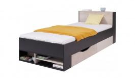 Študentská / detská posteľ Saturn čierna - ľavá / pravá
