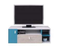 Študentský televízny stolík Saturn - biela / modrá