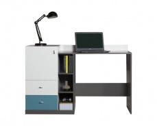 Písací stôl Tom - atlantic/biely/grafit