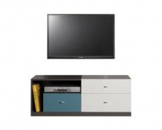 Televízny stolík Tom - atlantic/biely/grafit