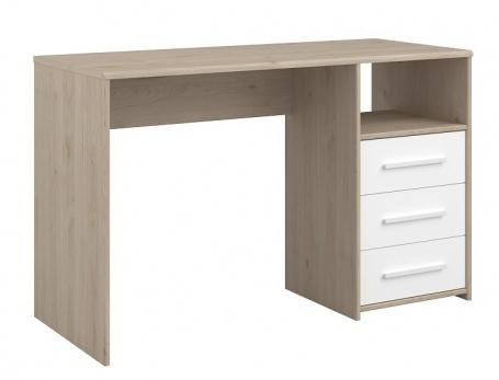 Písací stôl Josephine - dub jackson / biela
