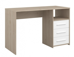 Písací stôl Josephine - dub jackson/biela