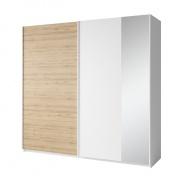 2-dverová skriňa, biela / dub divoký, Simpla