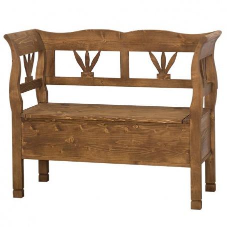 Drevená lavica s úložným priestorom HONEY - odtieň P001