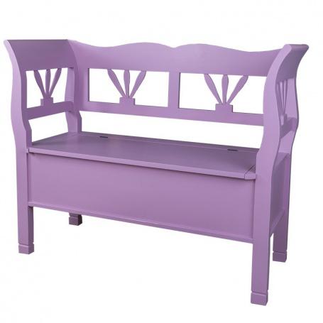 Drevená lavica s úložným priestorom HONEY - odtieň P055