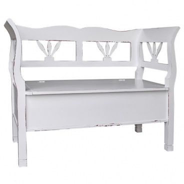Drevená lavica s úložným priestorom HONEY - tmavá patina - výber hlavnej farby