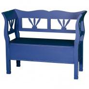 Drevená lavica s úložným priestorom HONEY - dvojitá patina - výber hlavnej farby