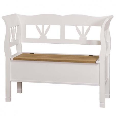 Drevená lavica s dubovým sedákom HONEY - odtieň sedáku P002