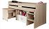 Detské poschodové postele s písacím stolom